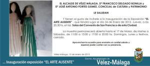 INVITACION EL ARTE AUSENTE. Enero 2013